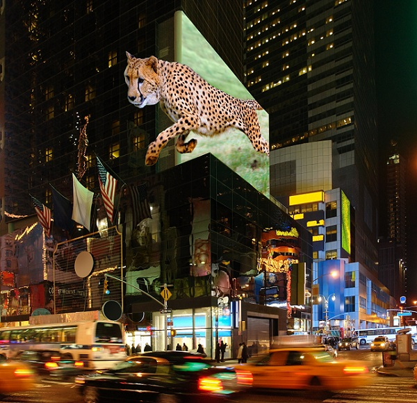 Billboards of the future could show astonishing 3D effects
