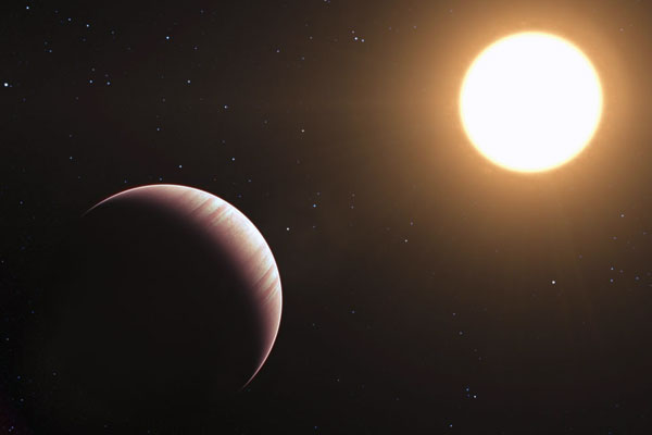 Artist's impression of the exoplanet