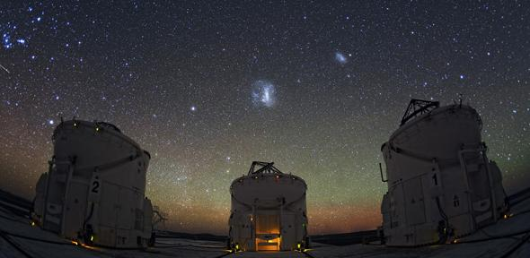 The dwarf galaxies are located near the Large and Small Magellanic Clouds