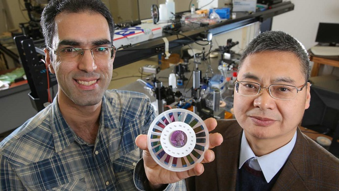 Ultra-thin silicon films create vibrant optical colors