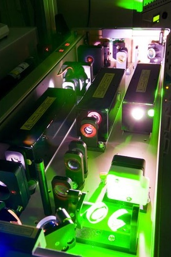 A shot of the laser equipment at the Tata Institute for Fundamental Research where the work was done