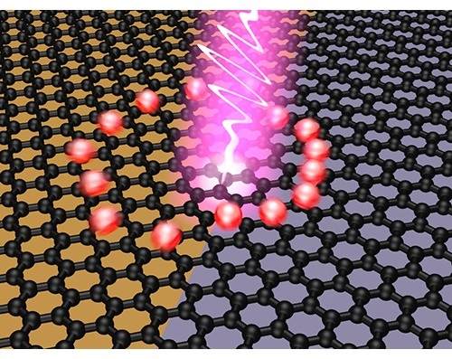 Ultrafast photovoltage creation after light absorption at the interface of two graphene areas with different Fermi energy