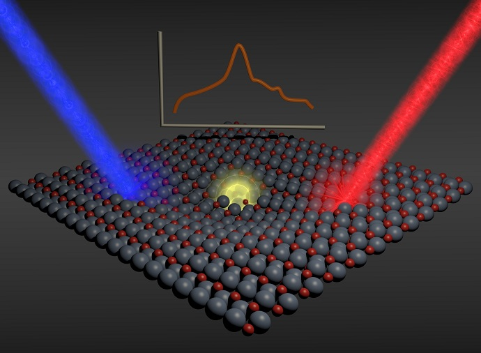 Pseudoparticles Travel through Photoactive Material
