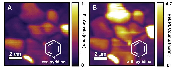 The quality of the perovskite materials for electronic device applications improved after chemical treatment