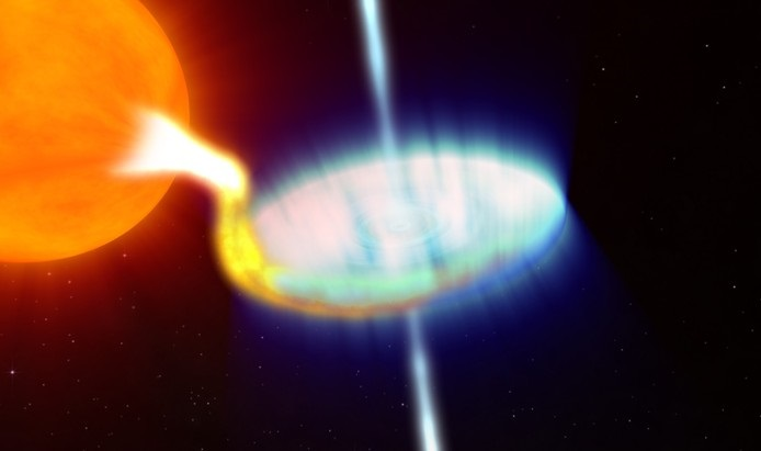 Black hole caught burping a rare X-ray flare