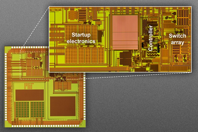 The MIT researchers prototype for a chip
