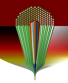 Cut-away of a Hollow Core – Photonic Band-Gap Fibre