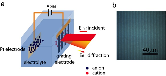 Schematic illustration of the spectroscopy design with graphene grating
