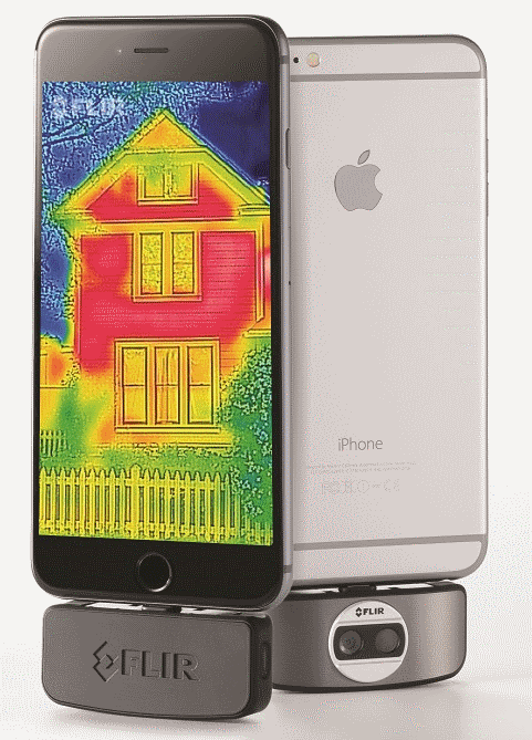 iPhone 6 plus with the FLIR ONE