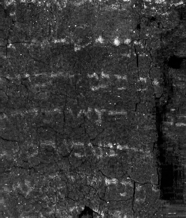 Unwrapped texture image of the Ein Gedi scroll