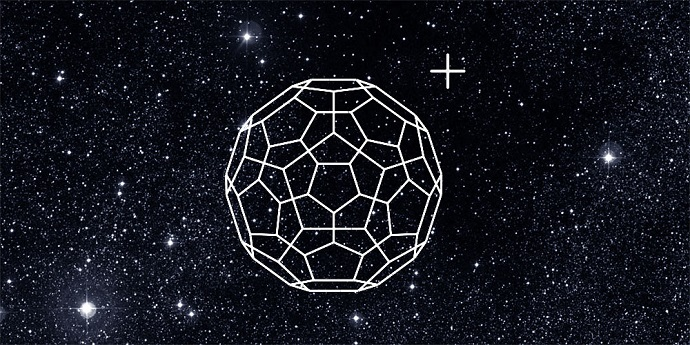 Ionized Buckminsterfullerene is present at the gas-phase in space