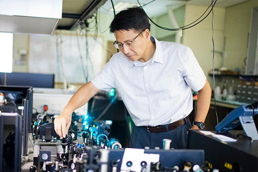 Emory physical chemist Tim Lian researches light-driven charge transfer for solar energy conversion