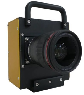 A camera prototype equipped with the newly developed CMOS sensor