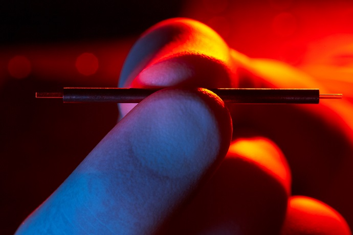 Terahertz accelerator modules easily fit into two fingers
