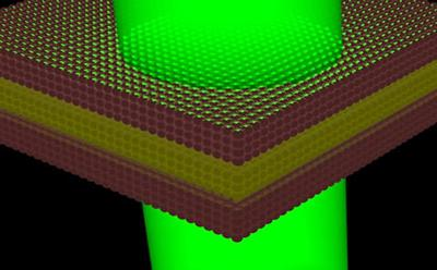 Doped quantum well illuminated by a laser beam