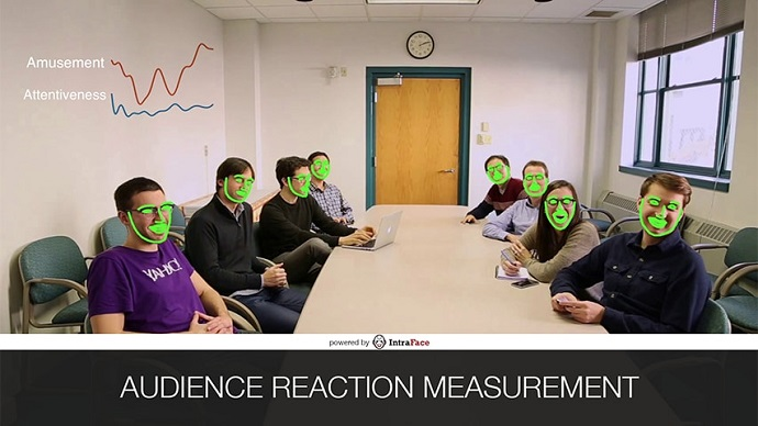 CMU's advanced software for tracking facial features can measure audience reaction in real-time