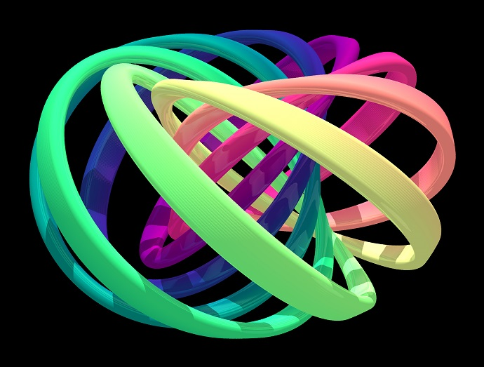 Visualization of the structure of the created quantum knot
