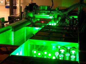 The TREX laser at Berkeley Lab's BELLA Center was used in a two-stage laser-plasma acceleration experiment