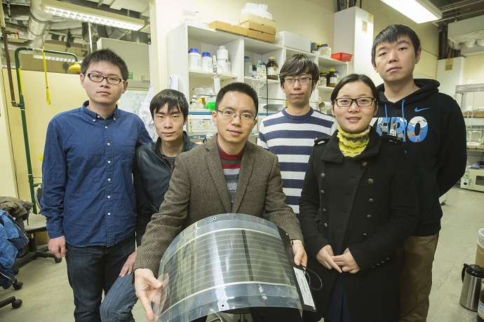 Prof Henry He Yan and his research team develop a record-efficient organic solar cell