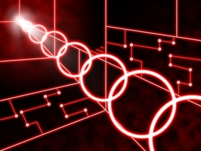 Laser Circuit Background Means Futuristic Design Or Concept