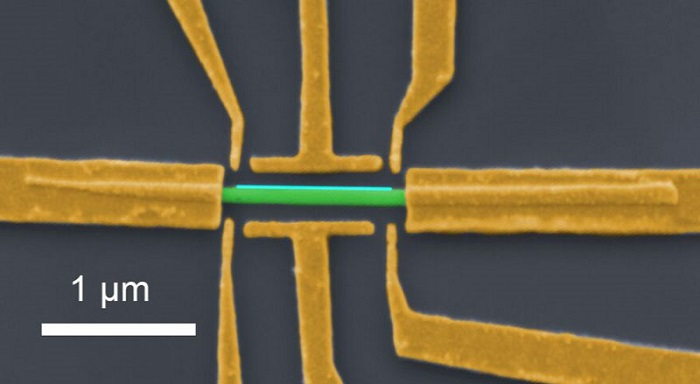 A nanowire device similar to those used in the study