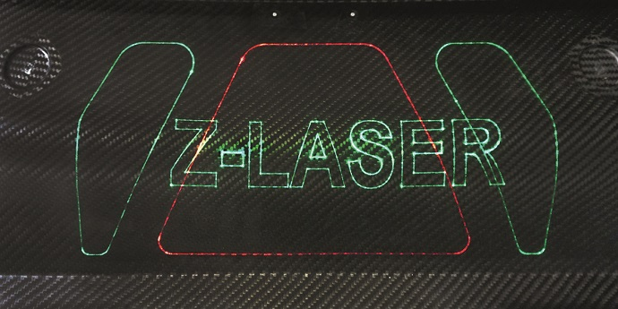 ZLP's laser projection on composite material