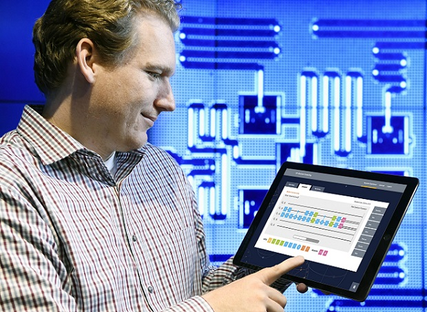 IBM Quantum Computing Scientist Jay Gambetta uses a tablet to interact with the IBM Quantum Experience