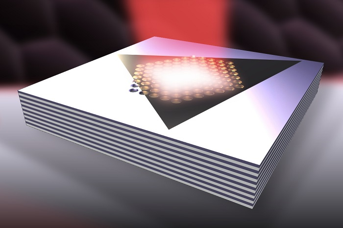 Enhanced light emission from 2D semiconductors using metamaterials