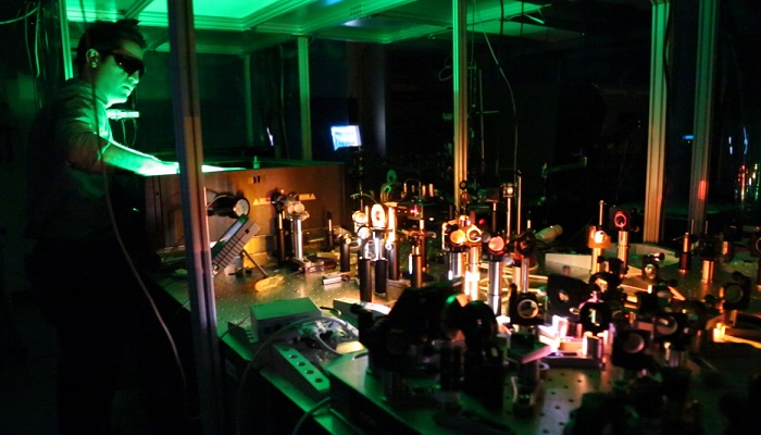 Optical physicists at UNM are using lasers to generate cold temperatures instead of heat
