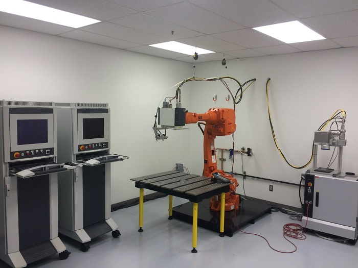Blackbird's remote laser welding laboratory in Detroit, Michigan, US