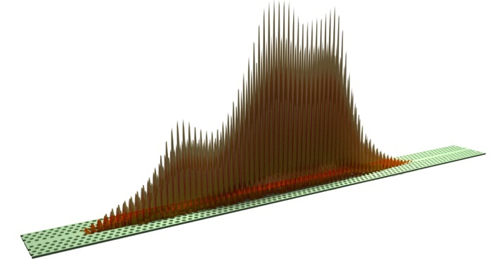 Visualisation of disorder-confined light in a photonic crystal