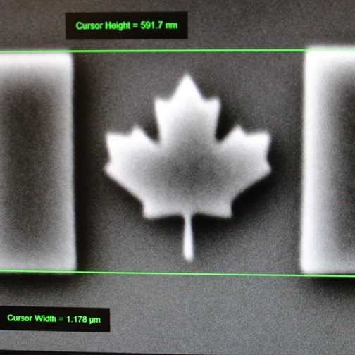 Nano-scale Canadian flag