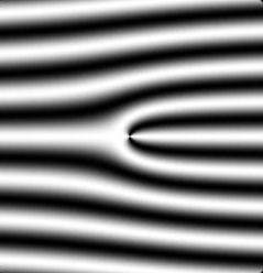 Interference pattern created by neutron holography