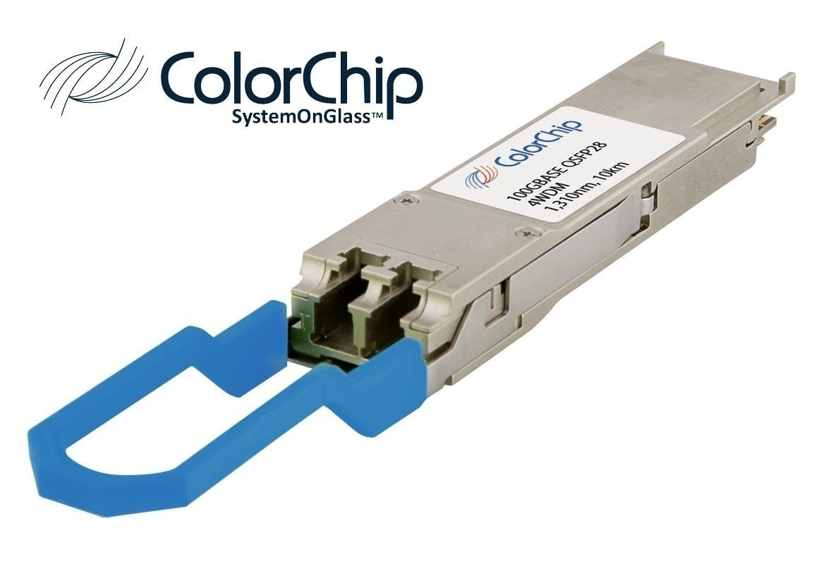 ColorChip 100G QSFP28 4WDM 10KM Transceiver