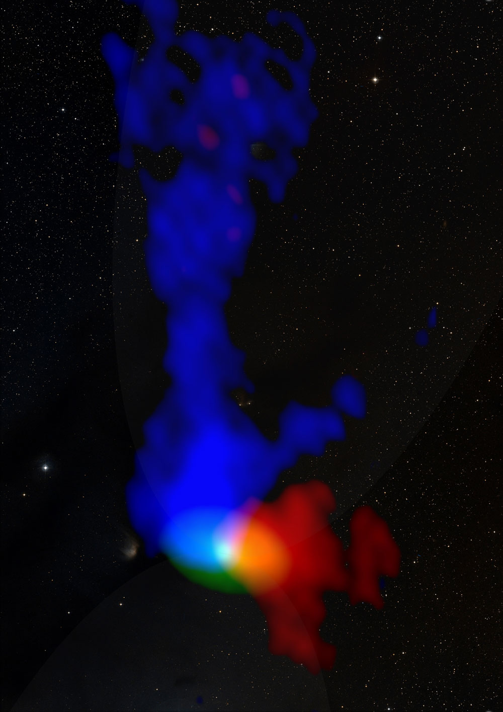 ALMA observations of a young protostar about 450 light years away