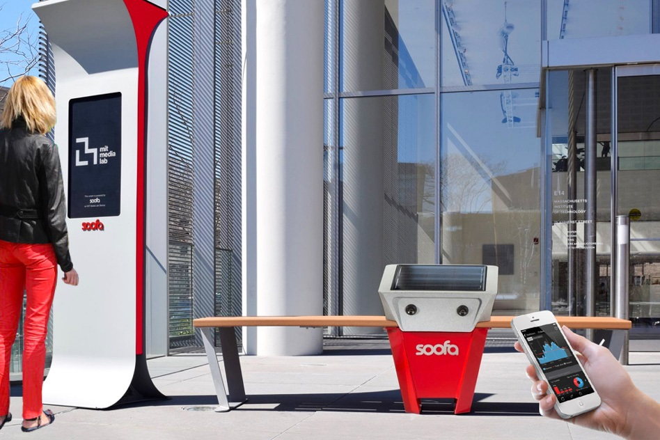 MIT Media Lab spinout Changing Environments is the brains behind the solar-powered Soofa Bench