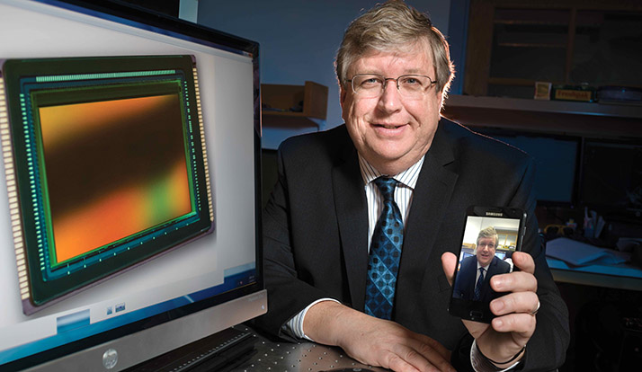 Eric Fossum sees people using the technology he developed every day