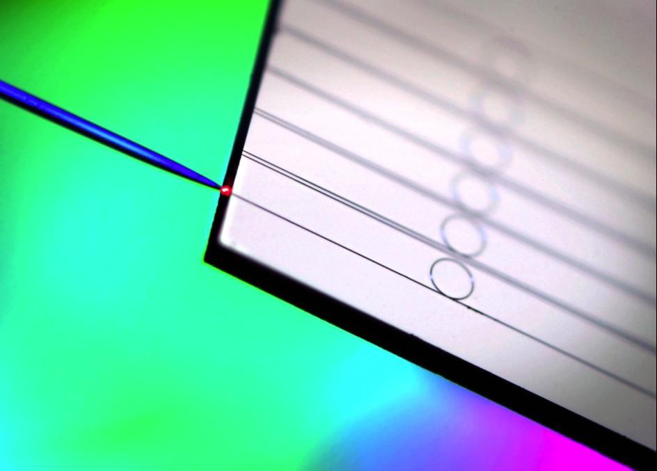 Ring-shaped silicon nitride microresonators on a chip coupled with an optical fiber