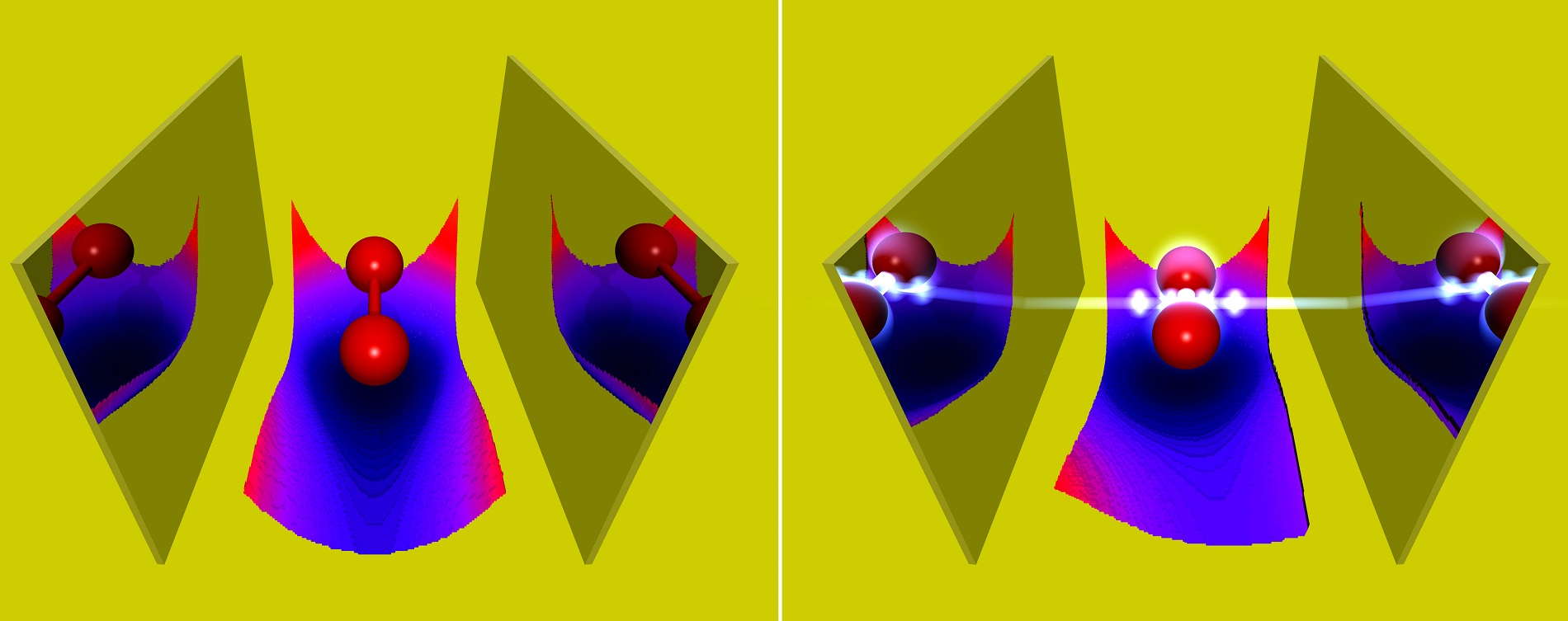 A molecule in an optical cavity