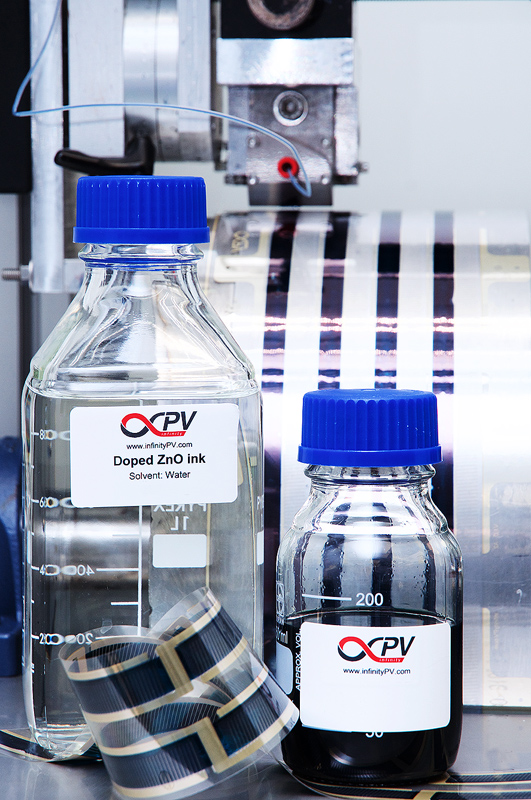 infinityPV offers four inks for sale with optimized photovoltaic properties and tailored visual impressions