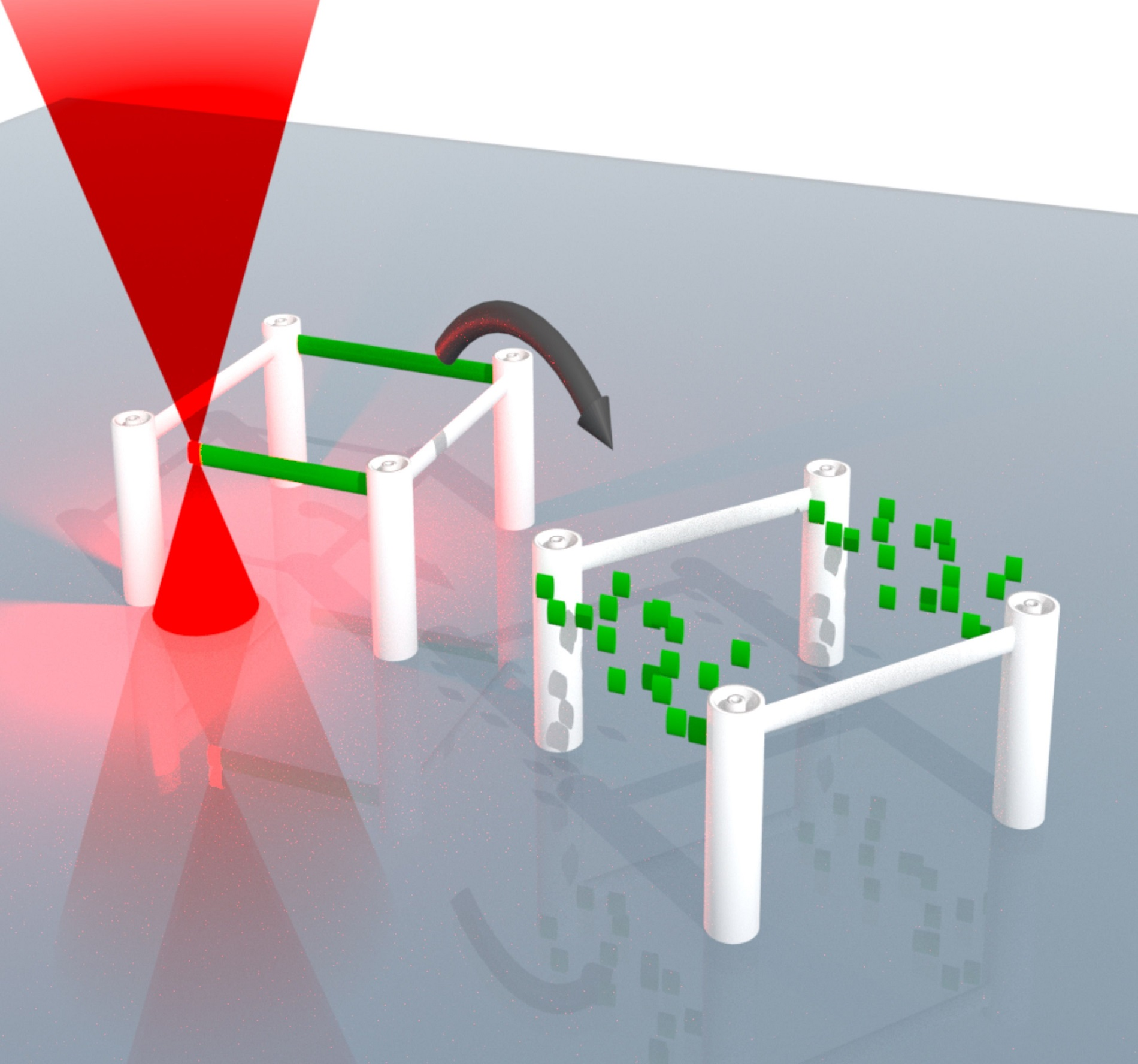 3-dimensional microstructures can be written using a laser, erased, and rewritten