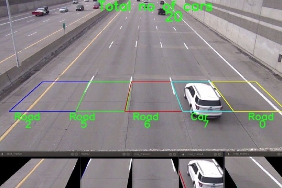 A high-resolution camera is placed under a bridge in South Florida, which contains five through lanes.
