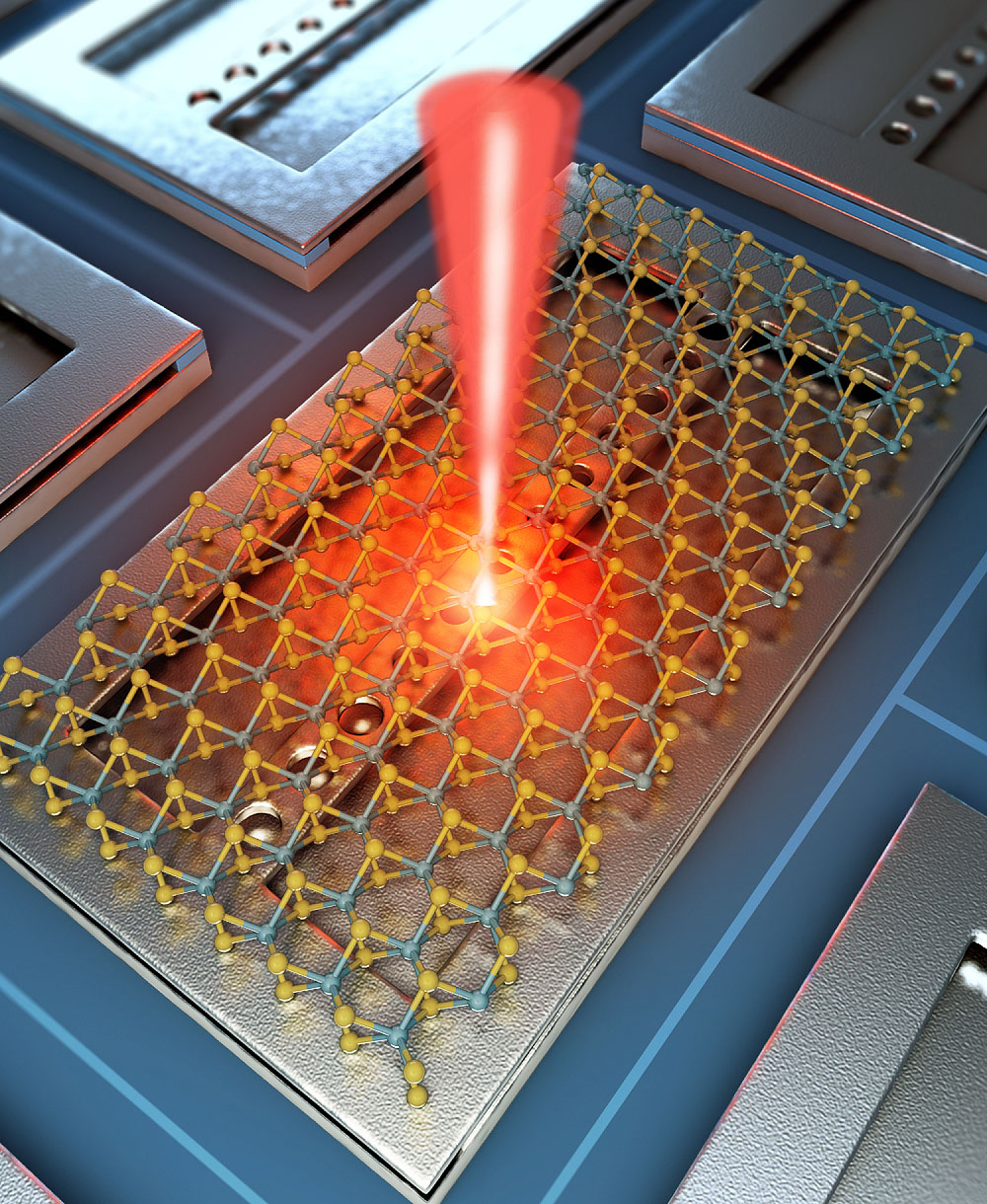 Single molecular layer and thin silicon beam enable nanolaser operation at room temperature