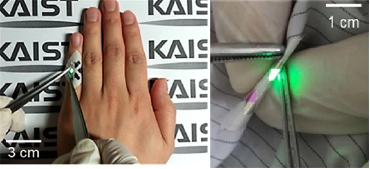 OLEDs Operating in Fabrics