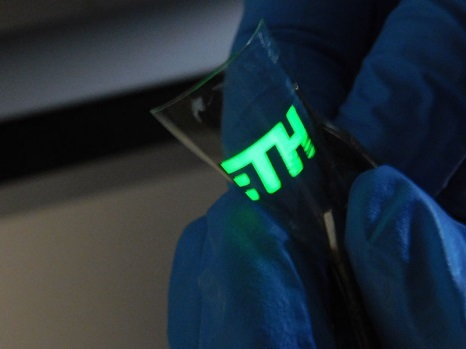 An LED is as flexible and bendable as a sheet of paper and can even be produced at room temperature.
