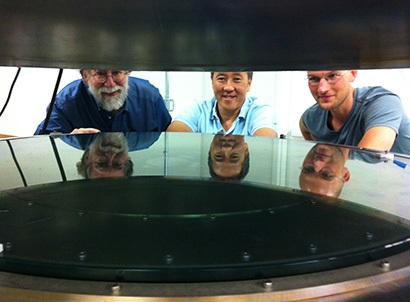 UC Santa Cruz researchers worked with Structured Materials Industries to design and build an atomic layer deposition system large enough to accommodate telescope mirrors.