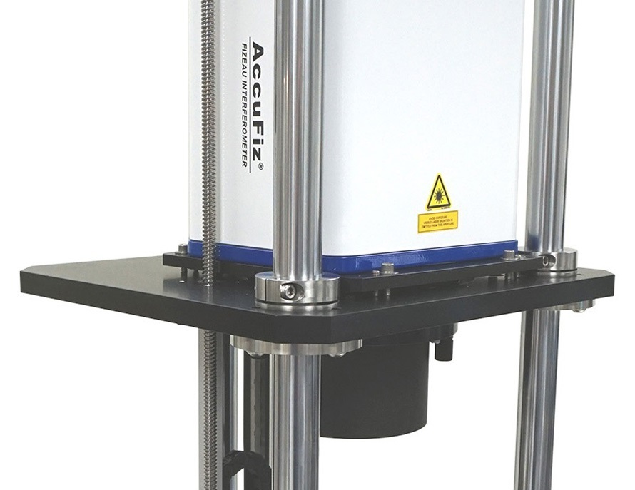 4D Technology Vertical Digital Radius Slide with AccuFiz Fizeau Laser Interferometer