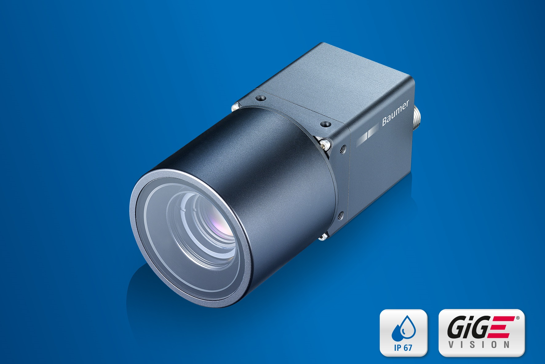 The new IP 65/67 rated CX cameras endure dust, water jets and extreme temperatures from 70 °C down to -40 °C.
