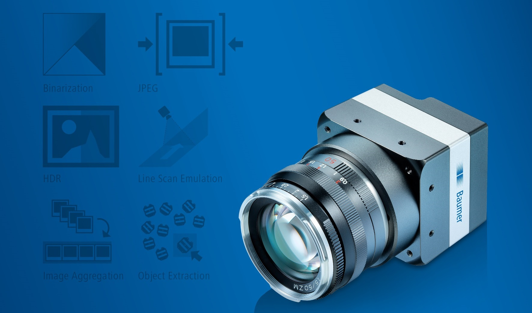 Baumer ready-to-use SmartApplets eliminate the need for defining image processing algorithms in complex applications.