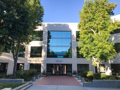 The new Jenoptik office is located in this shared corporate center in Fremont, CA, 39300 Civic Center Drive.